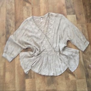 Free People Tops - Free People Dolman Sleeve beaded oversized Top